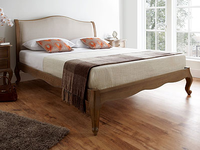 Solid wood bedstead