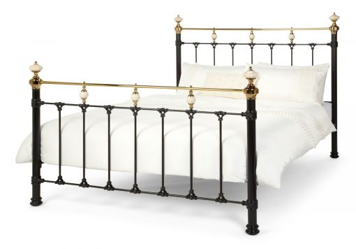 Amber Black Brass Bed Frame