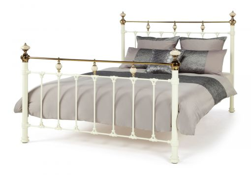 Amber Ivory Brass Bed Frame