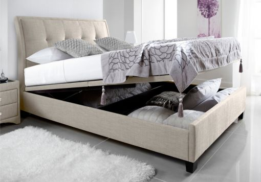 Kaydian Accent Upholstered Ottoman Storage Bed - Oatmeal Fabric