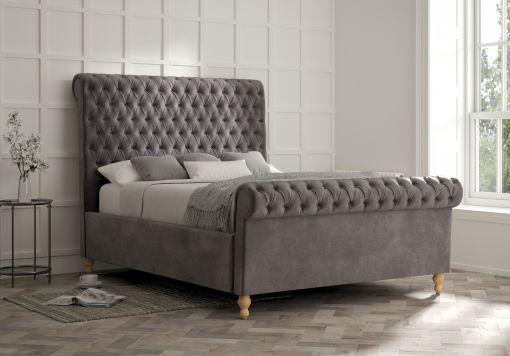 Aldwych Savannah Armour Upholstered Sleigh Bed Only