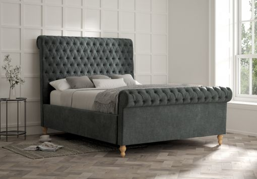 Aldwych Savannah Ocean Upholstered Sleigh Bed Only