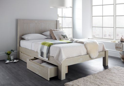 New Hampshire Grey Drawer Storage Bed Frame