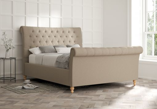 Cavendish Arran Natural Upholstered Sleigh Bed Only