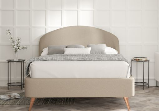 Lunar Arran Natural Upholstered Bed Frame Only