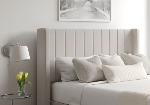 Aurelia Arran Natural Upholstered Floor Standing Headboard
