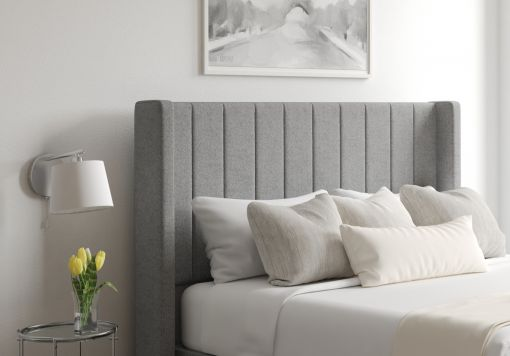Aurelia Arran Pebble Upholstered Floor Standing Headboard