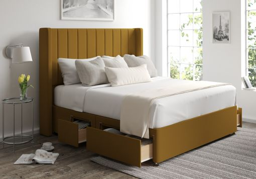Aurelia Classic 4 Drw Continental Gatsby Ochre Headboard and Base Only