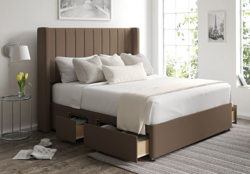 Aurelia Classic 4 Drw Continental Gatsby Taupe Headboard and Base Only