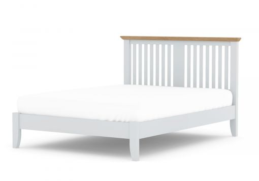Bayford Shaker Grey Wooden Bed Frame - Double Bed Frame Only