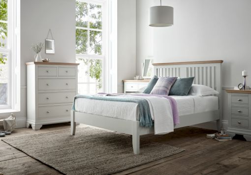 Bayford Shaker Grey Wooden Bed Frame