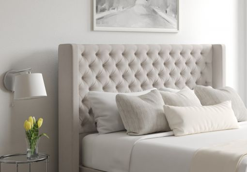 Bella Arran Natural Upholstered Floor Standing Headboard
