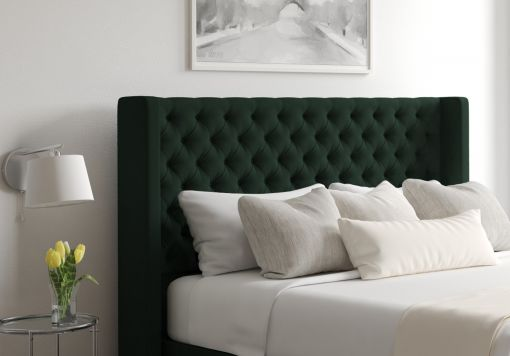 Bella Gatsby Forest Upholstered Floor Standing Headboard