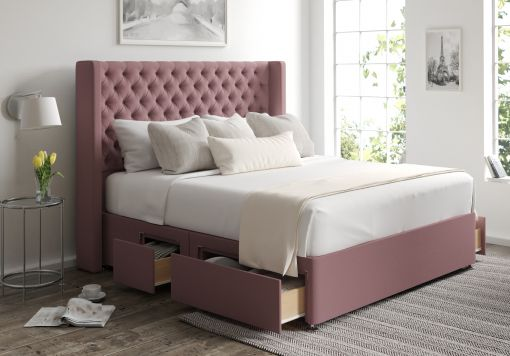 Bella Classic 4 Drw Continental Gatsby Rose Headboard and Base Only