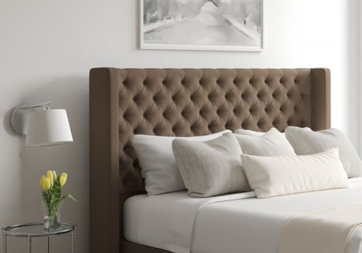 Bella Gatsby Taupe Upholstered Floor Standing Headboard