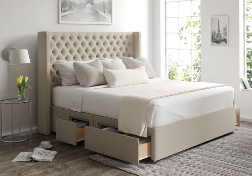 Bella Classic 4 Drw Continental Trebla Stone Headboard and Base Only