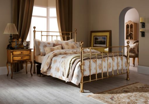 Amora Brass Bed Frame