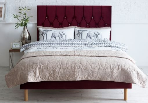 Catherine Lansfield Boutique Berry Upholstered Bed Frame Only