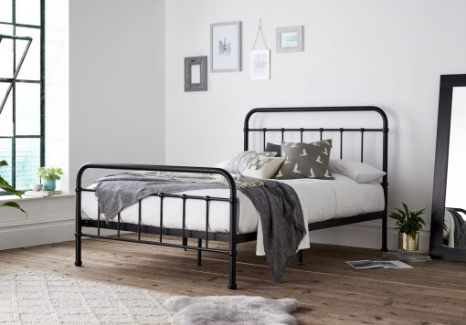 Shoreditch Black Metal Double Bed Frame Only