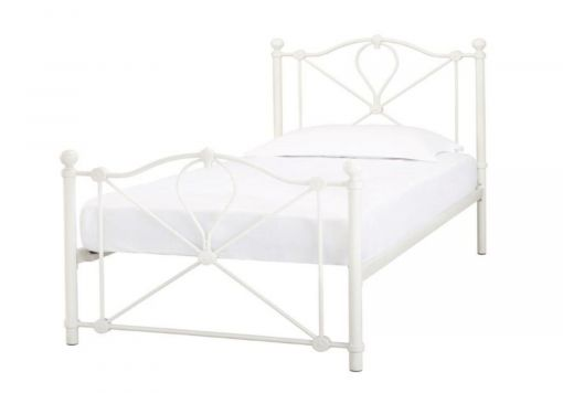 Bronte Off White Single Bed Frame