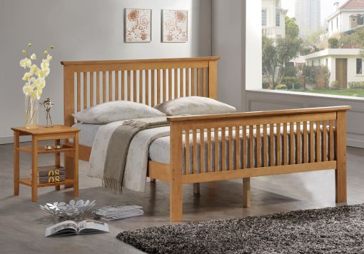 Harmony Buckingham Oak Finish Bed frame