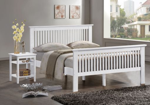 Harmony Buckingham White Wooden Bed frame