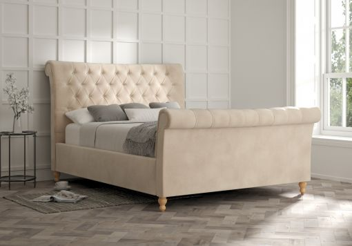 Cavendish Savannah Almond Upholstered Sleigh Bed Only