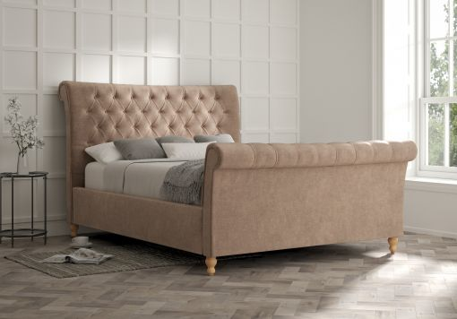 Cavendish Savannah Mocha Upholstered Sleigh Bed Only
