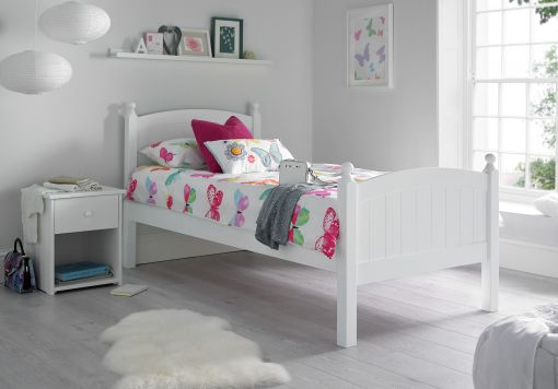Charleston Solo White Bed Frame