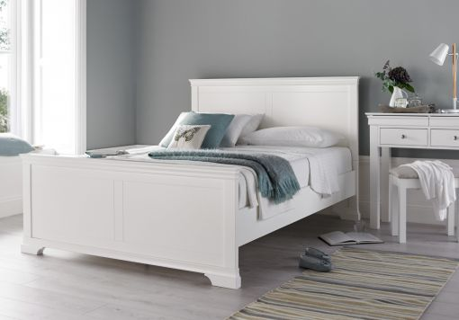 Chateaux White Wooden Bed Frame
