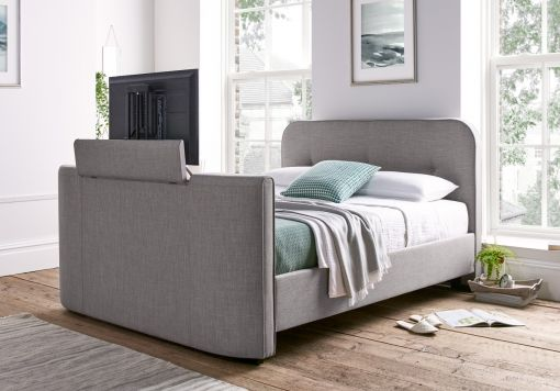 Colmar Mid Grey Upholstered TV Bed
