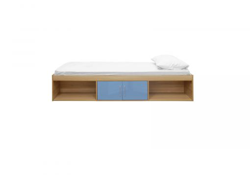 Dakota Oak/Blue Cabin Bed Frame