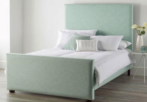 Catherine Lansfield Pastel Eau De Nil Upholstered Bed Frame Only