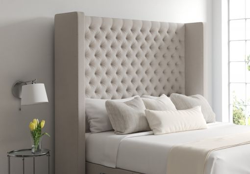 Emma Arran Natural Upholstered Floor Standing Headboard