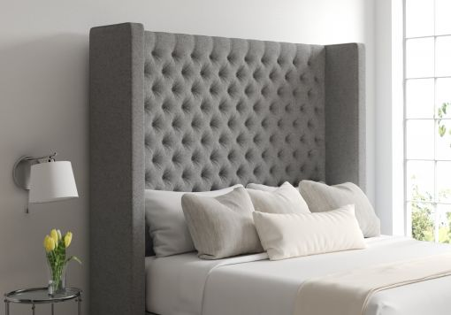 Emma Arran Pebble Upholstered Floor Standing Headboard