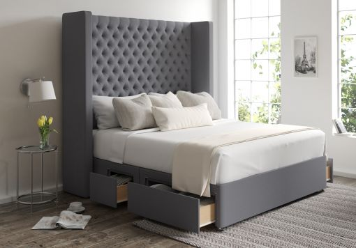 Emma Classic 4 Drw Continental Gatsby Platinum Headboard and Base Only