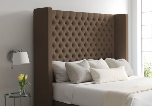 Emma Gatsby Taupe Upholstered Floor Standing Headboard