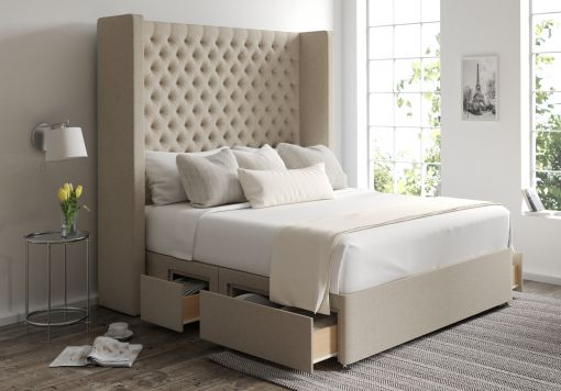 Emma Classic 4 Drw Continental Trebla Stone Headboard and Base Only