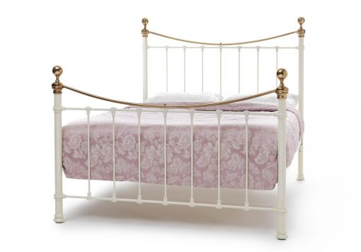 Suzie Ivory Brass Bed Frame