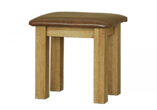French Style Versaille Rustic Oak Stool