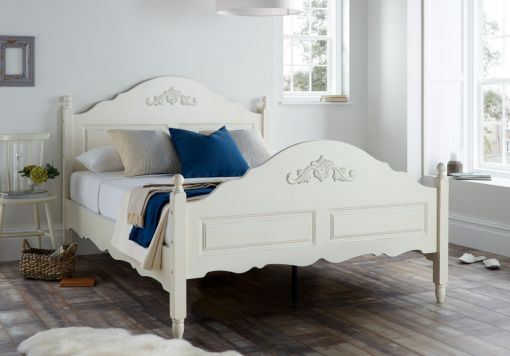 Annecy White Wooden Bed Frame