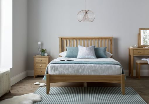 Gainsborough Light Oak Wooden Bed Frame