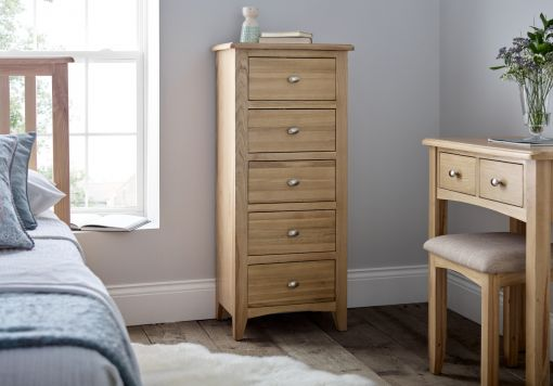 Gainsborough Light Oak Trinket Mirror
