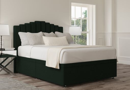 Quinn Ottoman Gatsby Forest Headboard and Base Only