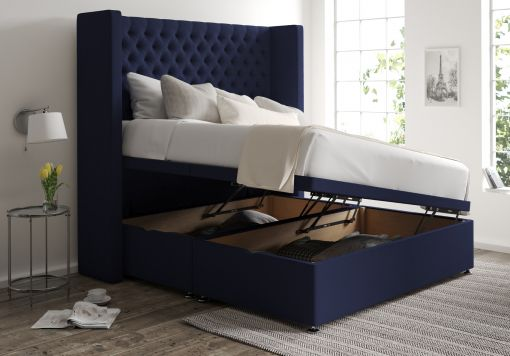 Emma Ottoman Gatsby Indigo Headboard and Base Only