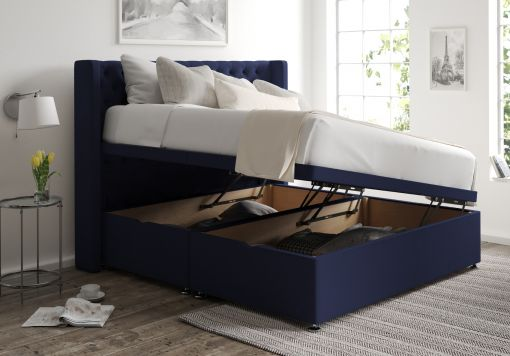 Bella Ottoman Gatsby Indigo Headboard and Base Only