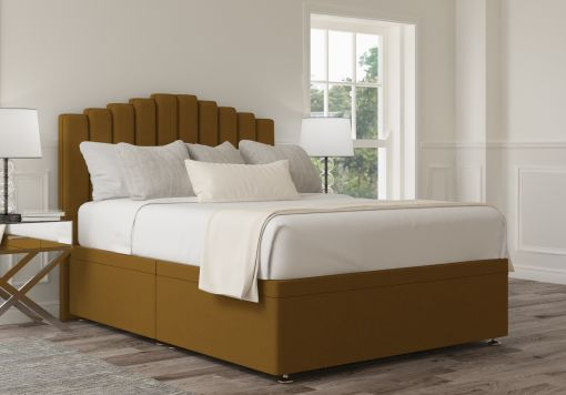 Quinn Ottoman Gatsby Ochre Headboard and Base Only