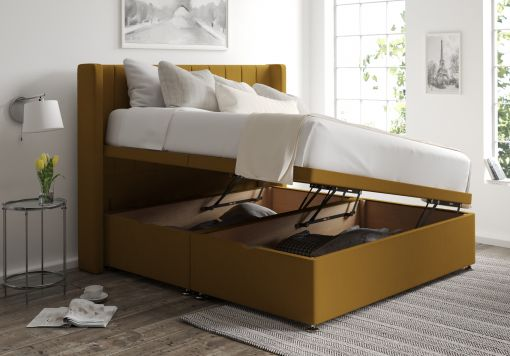 Aurelia Ottoman Gatsby Ochre Headboard and Base Only