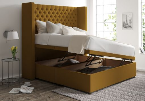 Emma Ottoman Gatsby Ochre Headboard and Base Only