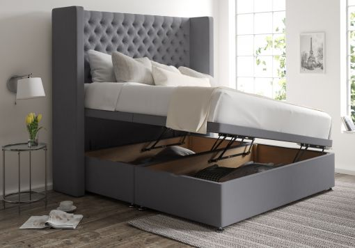 Emma Ottoman Gatsby Platinum Headboard and Base Only